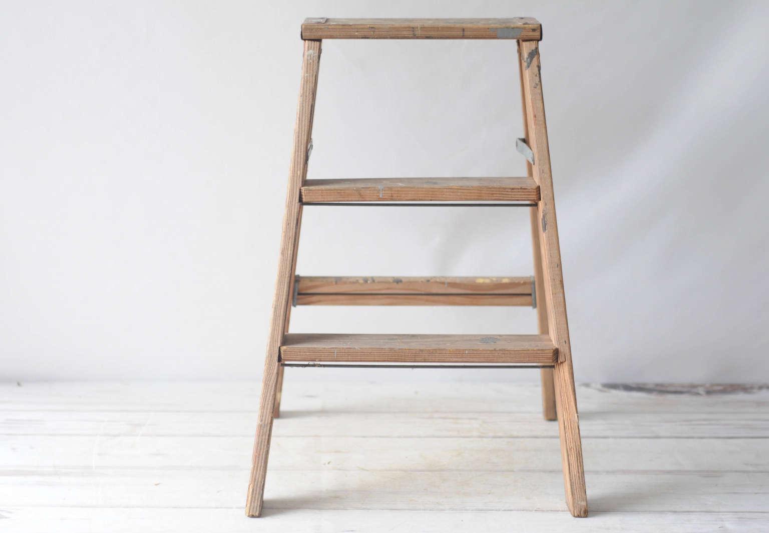 Astonishing Etsy Storage Wooden Ladders Vintage Paint Splatters Pdpeps Interior Chair Design Pdpepsorg