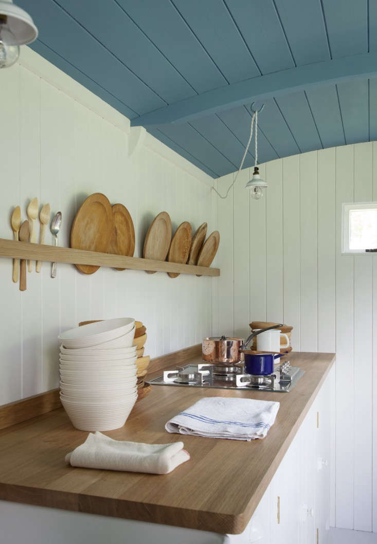 Above: A Single Piece Of Wood Offers Easy Storage In British Standardu0027s  Shepherdu0027s Hut Kitchen. For Sourcing, See 10 Easy Pieces: Wall Mounted  Plate Racks.