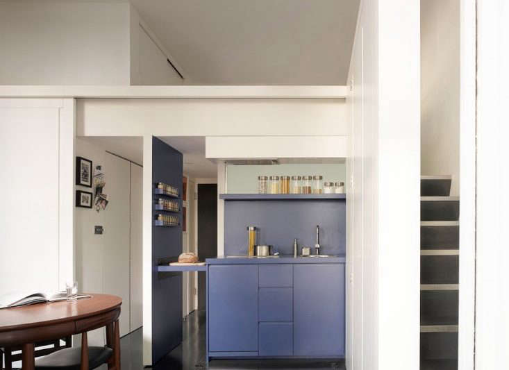 Openstudio Architects London Blue Tiny Modular Kitchen Remodelista