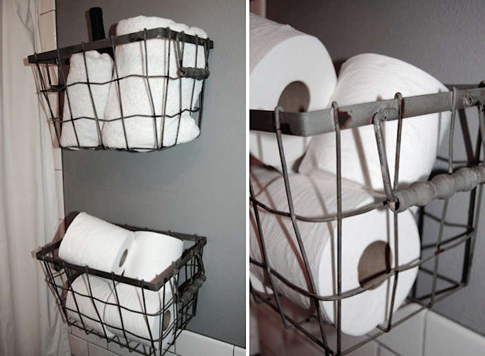 10 Wall-Mounted Wire Baskets as Storage - The Organized Home