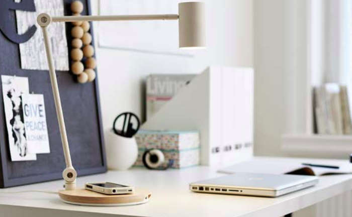 One Small Step (maybe Even A Giant Leap) For Lamps, Tables, And  Nightstands: Designs From Ikea With Built In Wireless Charging For  Smartphones.