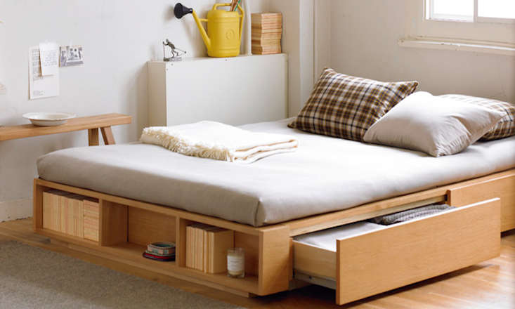 Above Muji S Large Double Light Ash Bed Has Two Storage Drawers And Is 490 In At Online