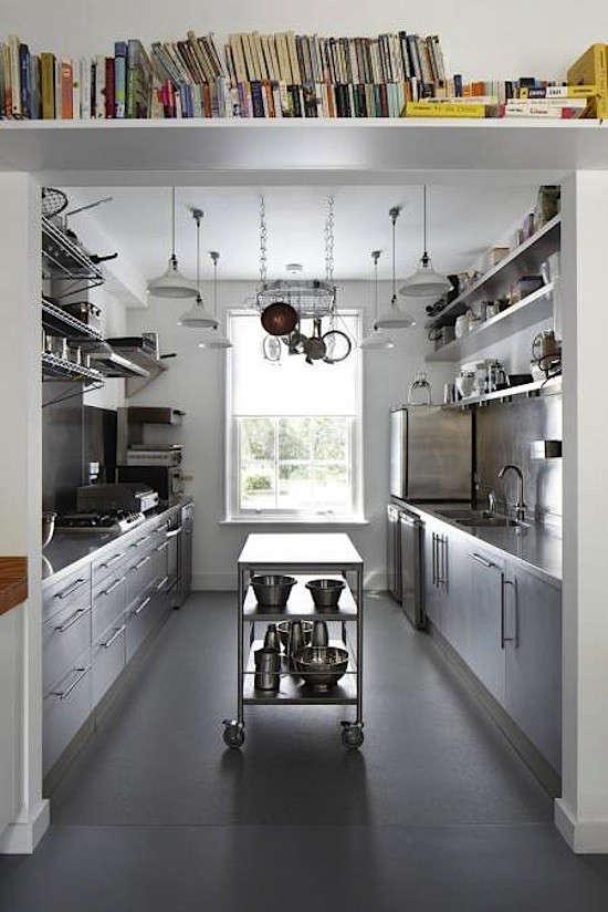 above london architecture and design firm project orange designed a commercial galley kitchen for a london couple who run a monthly dining club out of