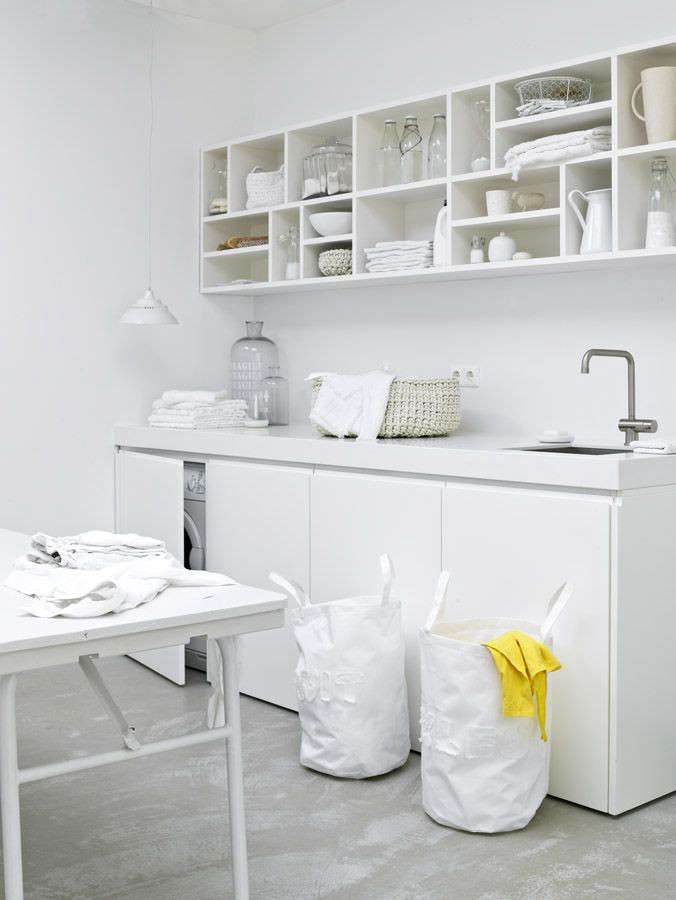 White Laundry Room Remodelista