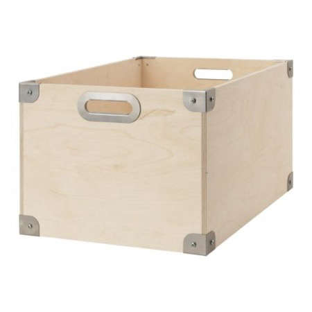 Below: My Favorite Is The Great Looking Snack Box From Ikea, Made Of Birch  Plywood And Galvanized Steel Fittings. $19.99 For The Large Size (22 By 14  5/8 By ...