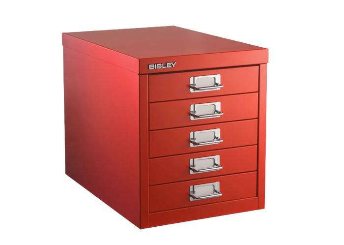 Above: The Compact Bisley 5 Drawer Cabinet Measures 11 By 16 By 13 Inches  High. Perfect For The Desktop, It Accommodates Bisley Drawer Inserts  ($13.99 Each) ...
