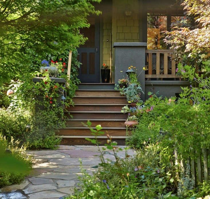 Front Yard Garden Ideas Part - 49: Front-yard-landscaping-ideas-path-flowers-gardenista