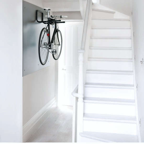 Above A minimal white hallway with bike via House to Home UK.  sc 1 st  The Organized Home & 10 Favorites: Indoor Bicycle Storage - The Organized Home