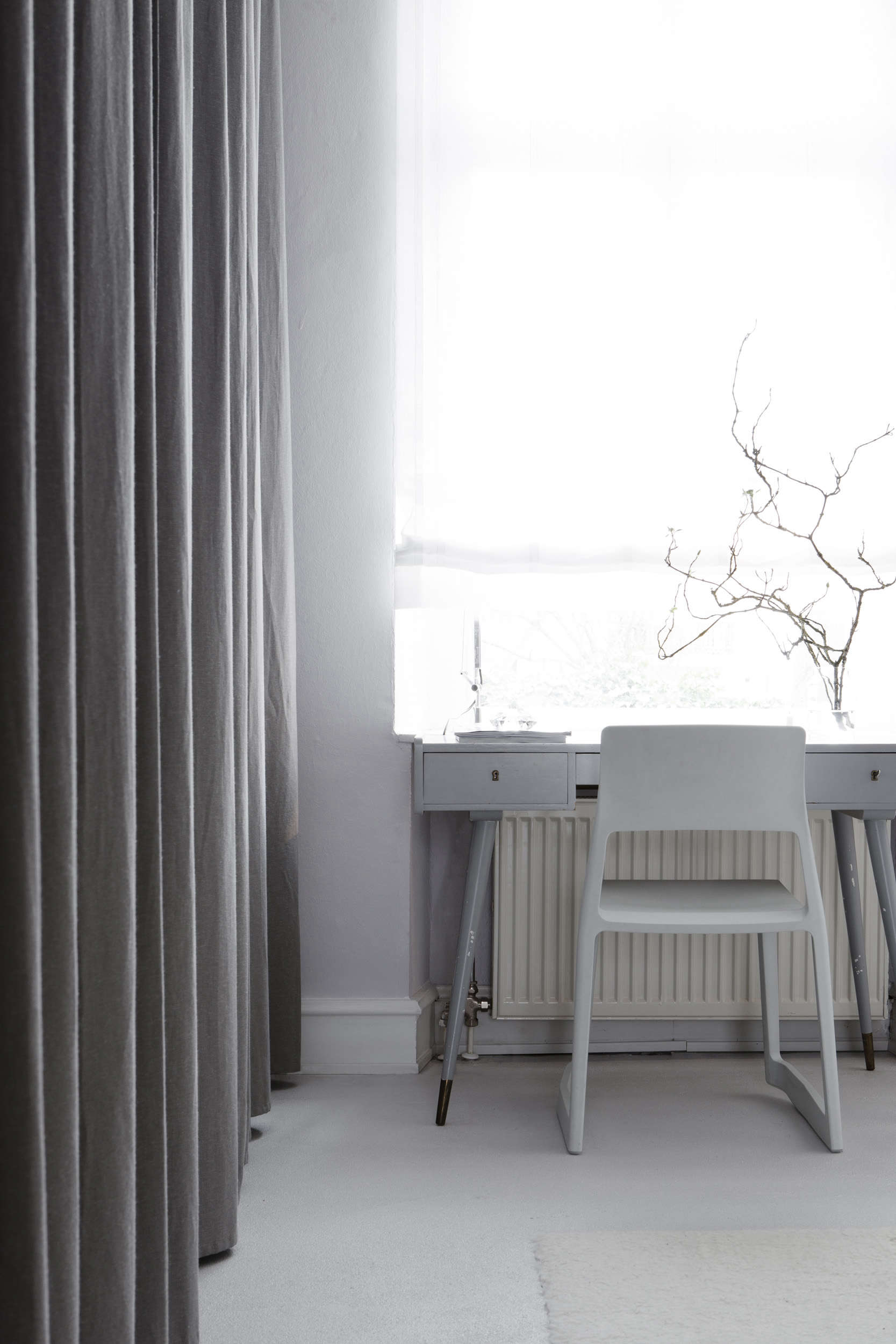 Luxe-minimalist dressing room in an apartment remodel by Studio Oink in Mainz, Germany | Remodelista