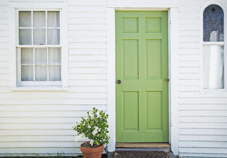 A Spring Green Door With Farrow Ball Paint The Organized Home
