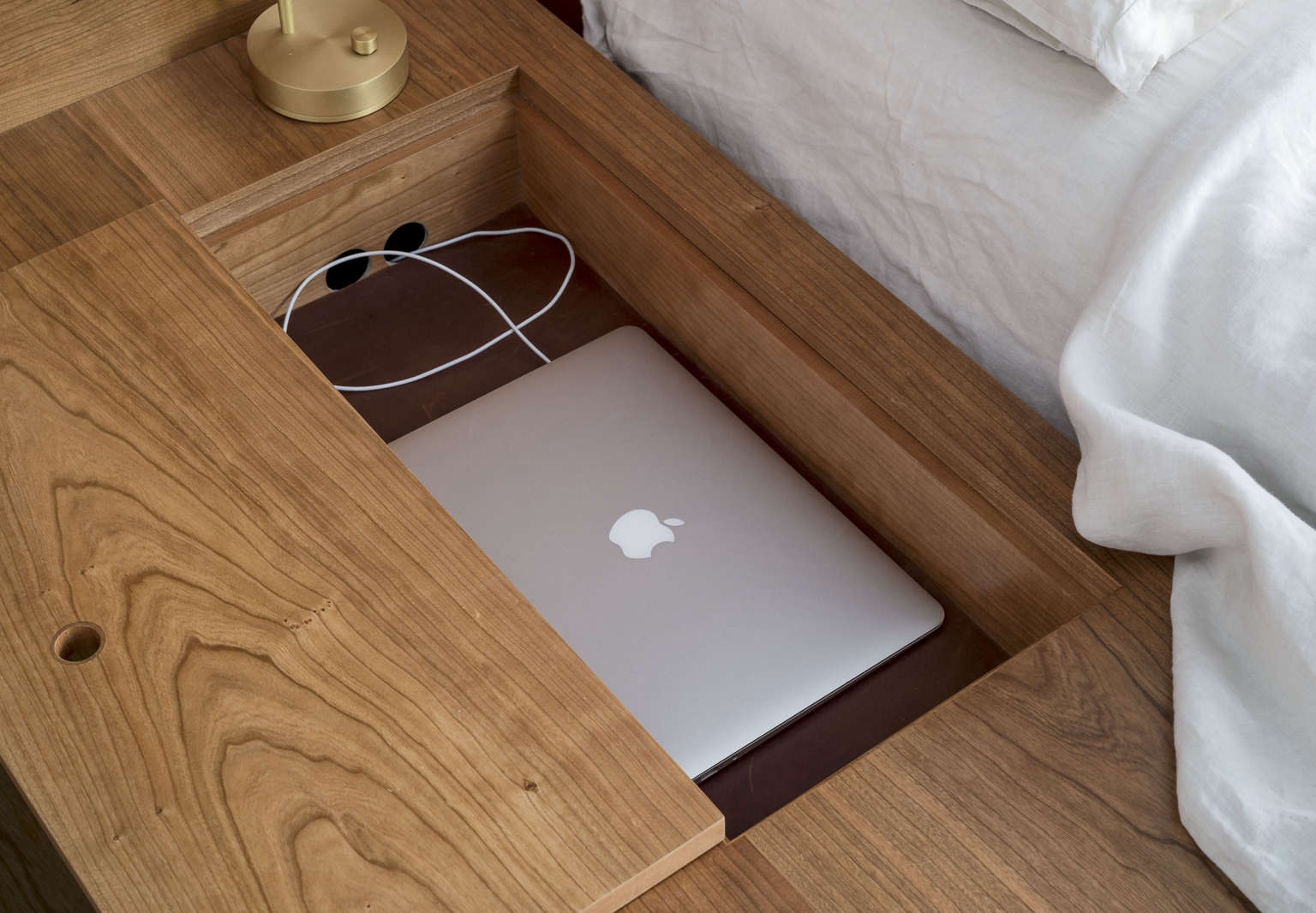 Aha! Design: An Electronics Charging Drawer - The Organized Home
