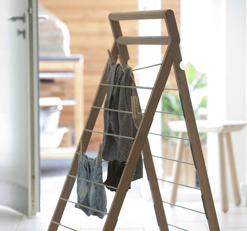 10 Easy Pieces Wooden Laundry Racks The Organized Home