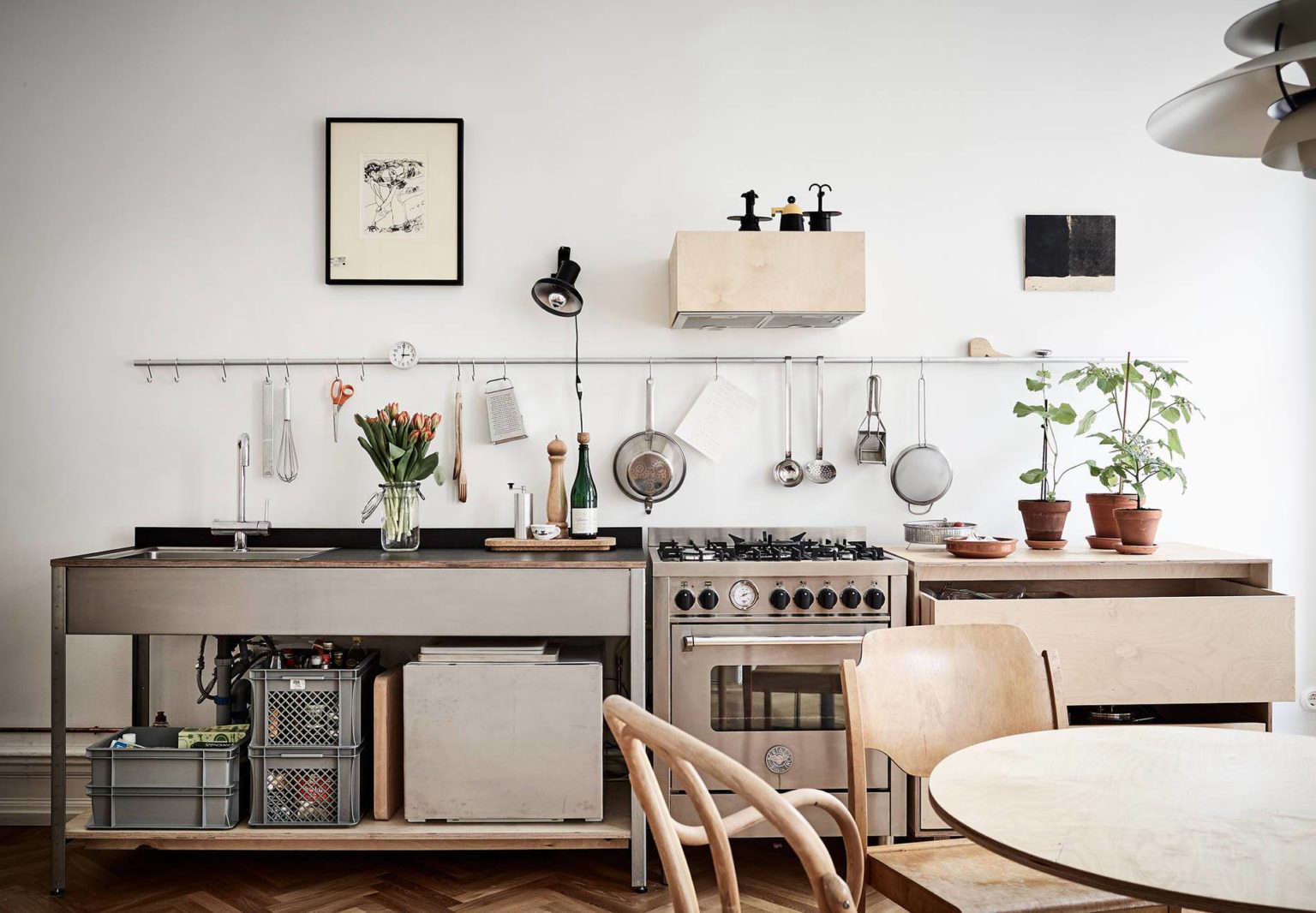 Steal This Look: Smart Storage in a Swedish Kitchen - The Organized Home
