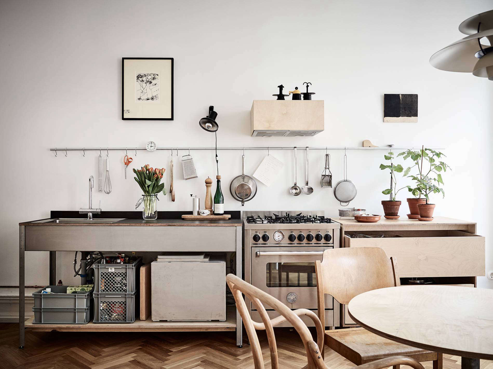 10 Organized Kitchens On A Budget Thanks To Ikea S Grundtal Rail System The Organized Home