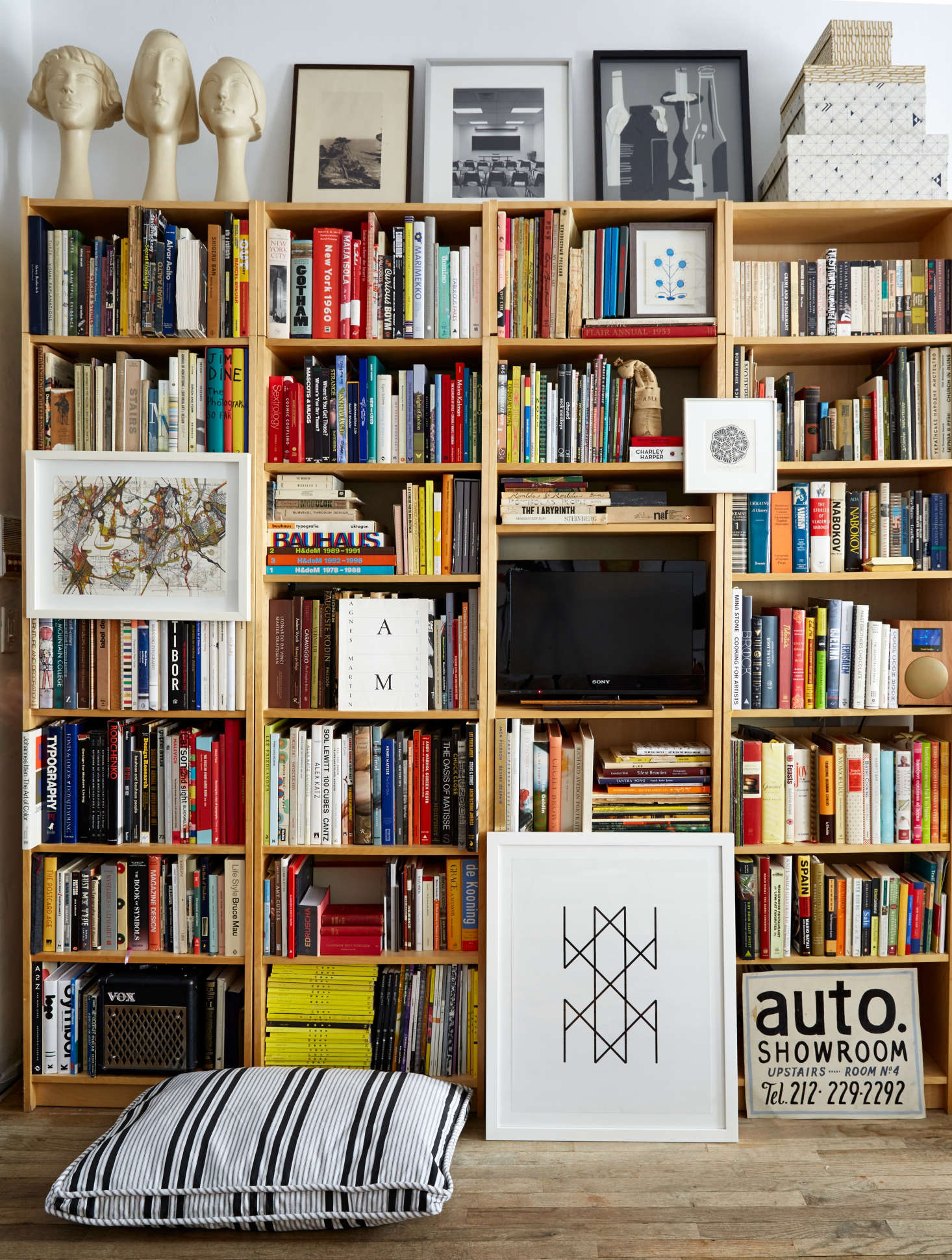 Four Billy Bookcases Placed Side By Give The Illusion Of Custom Bookshelves