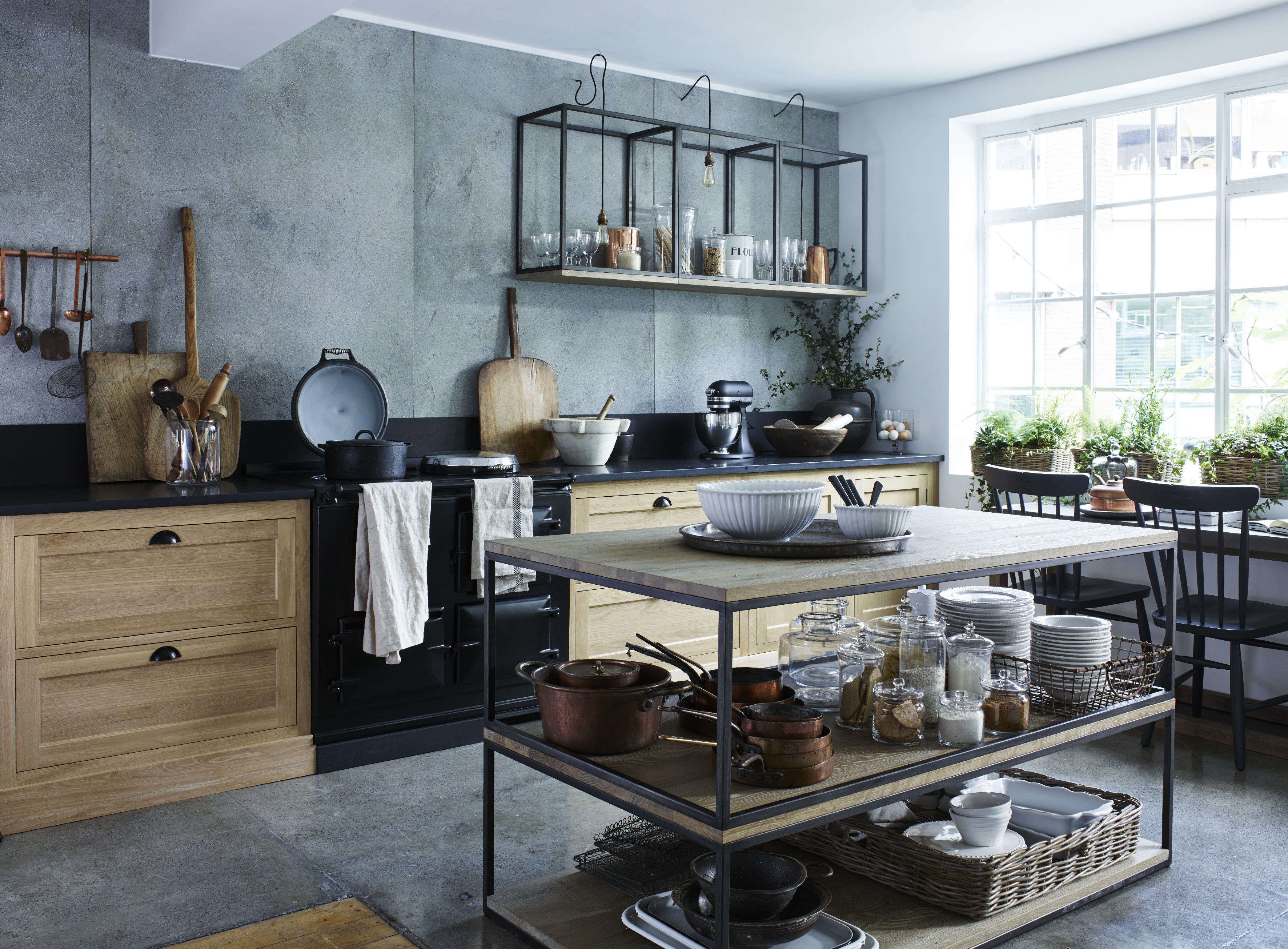 Genial Design Sleuth: Stacked And Wall Mounted Tables As Kitchen Storage