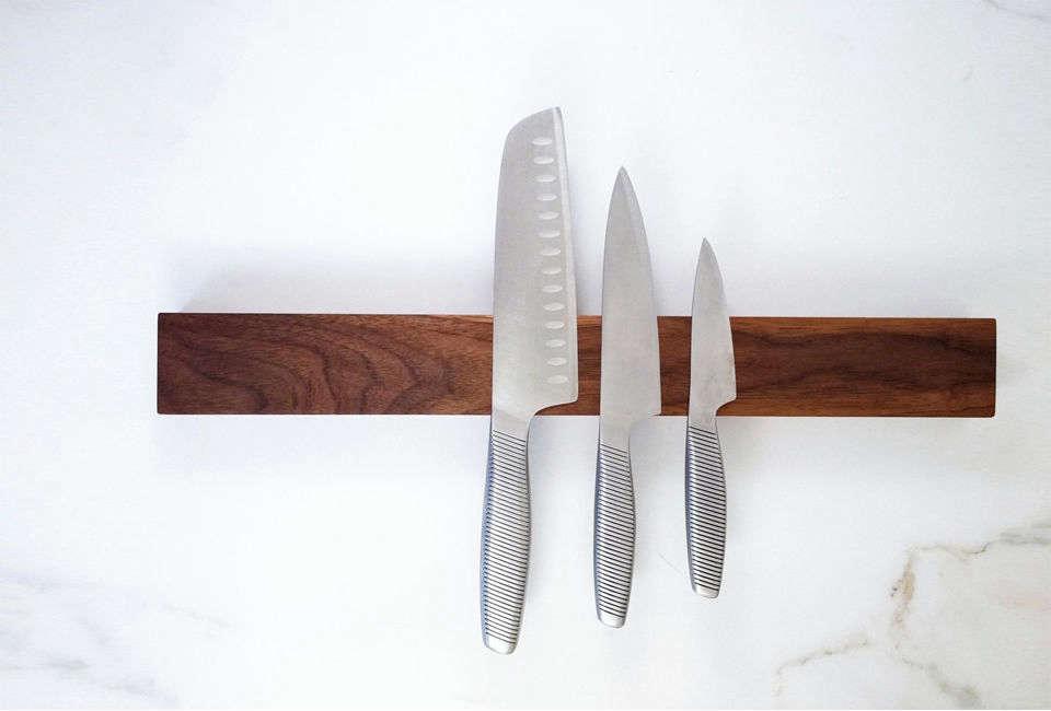Wood All Good Magnetic Knife Holder in Black Walnut