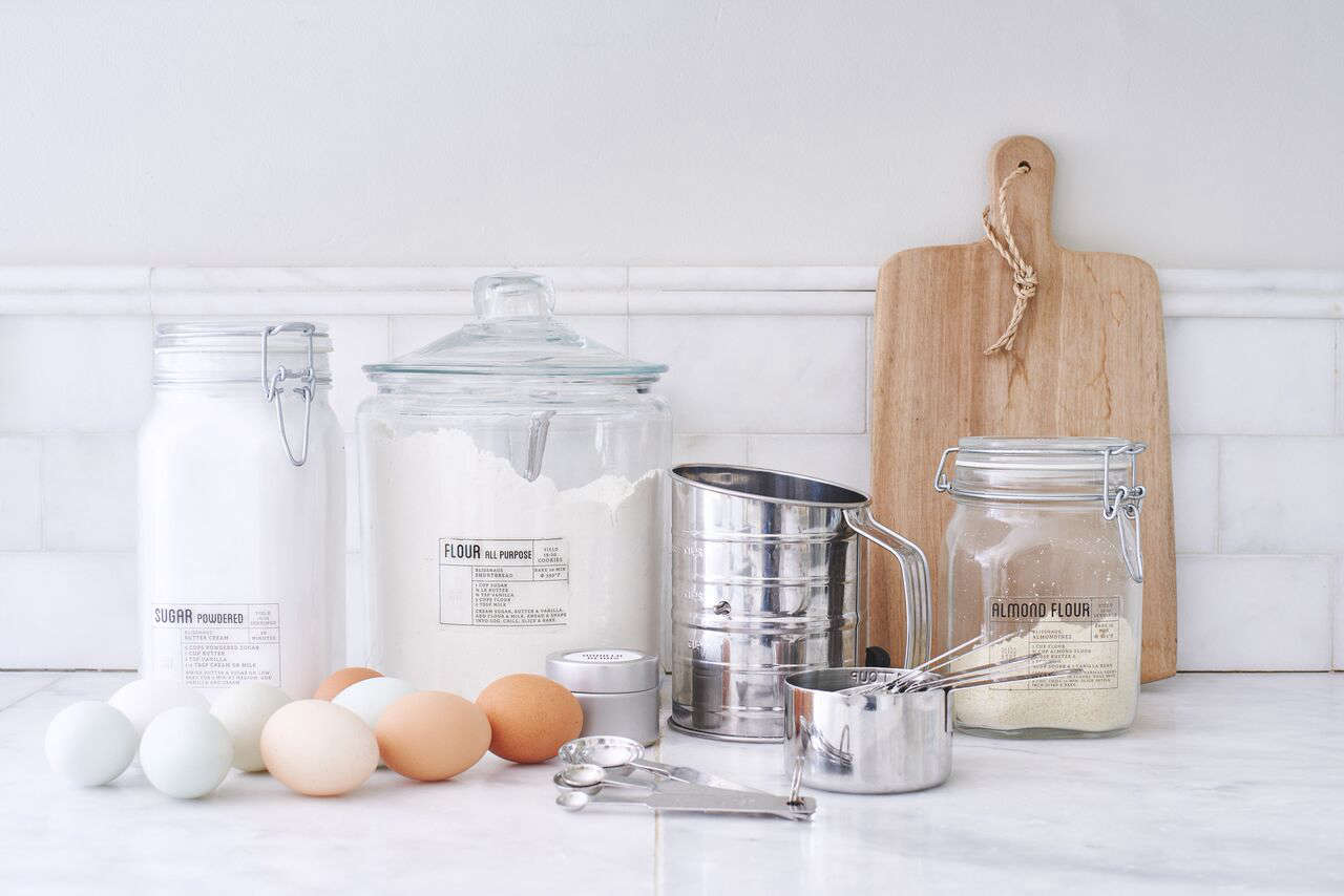 """A Set of Two Jars ranges from$12 to $30. """"Our glass jars are the key to the streamlined Blisshaus look and feel,"""" Wiebke says. """"They seal airtight and will keep your food fresh.""""The jars come in five sizes, from mini to jumbo."""