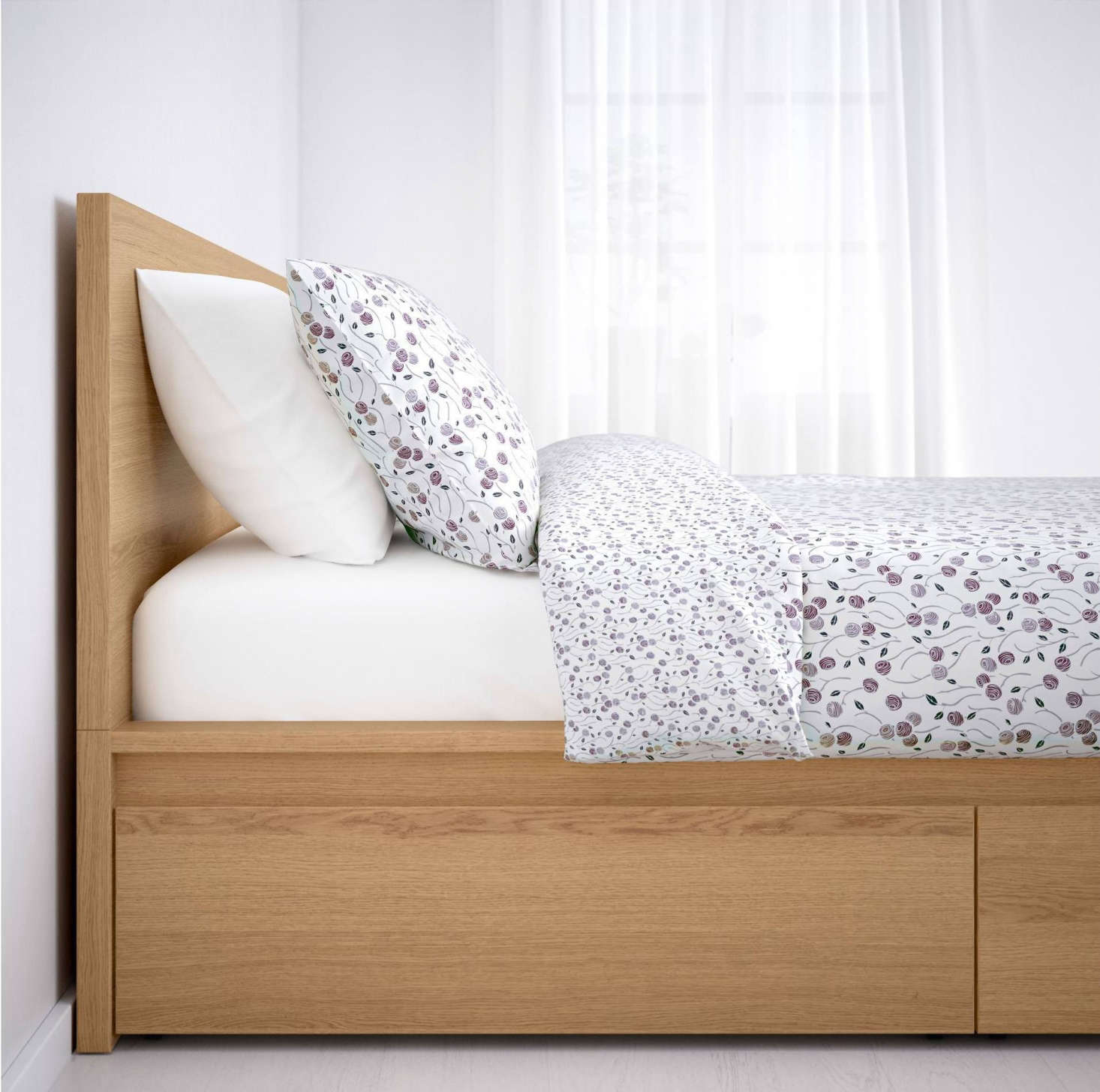 Ikea Malm Storage Bed In Oak