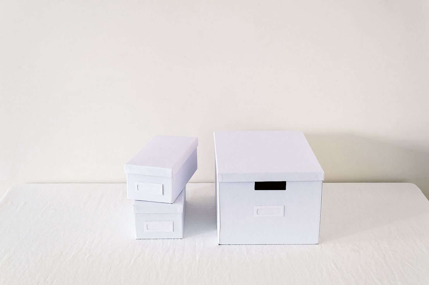Ikea's Tjena collection of boxes includes a shoebox-size container with a lid ($1.99).