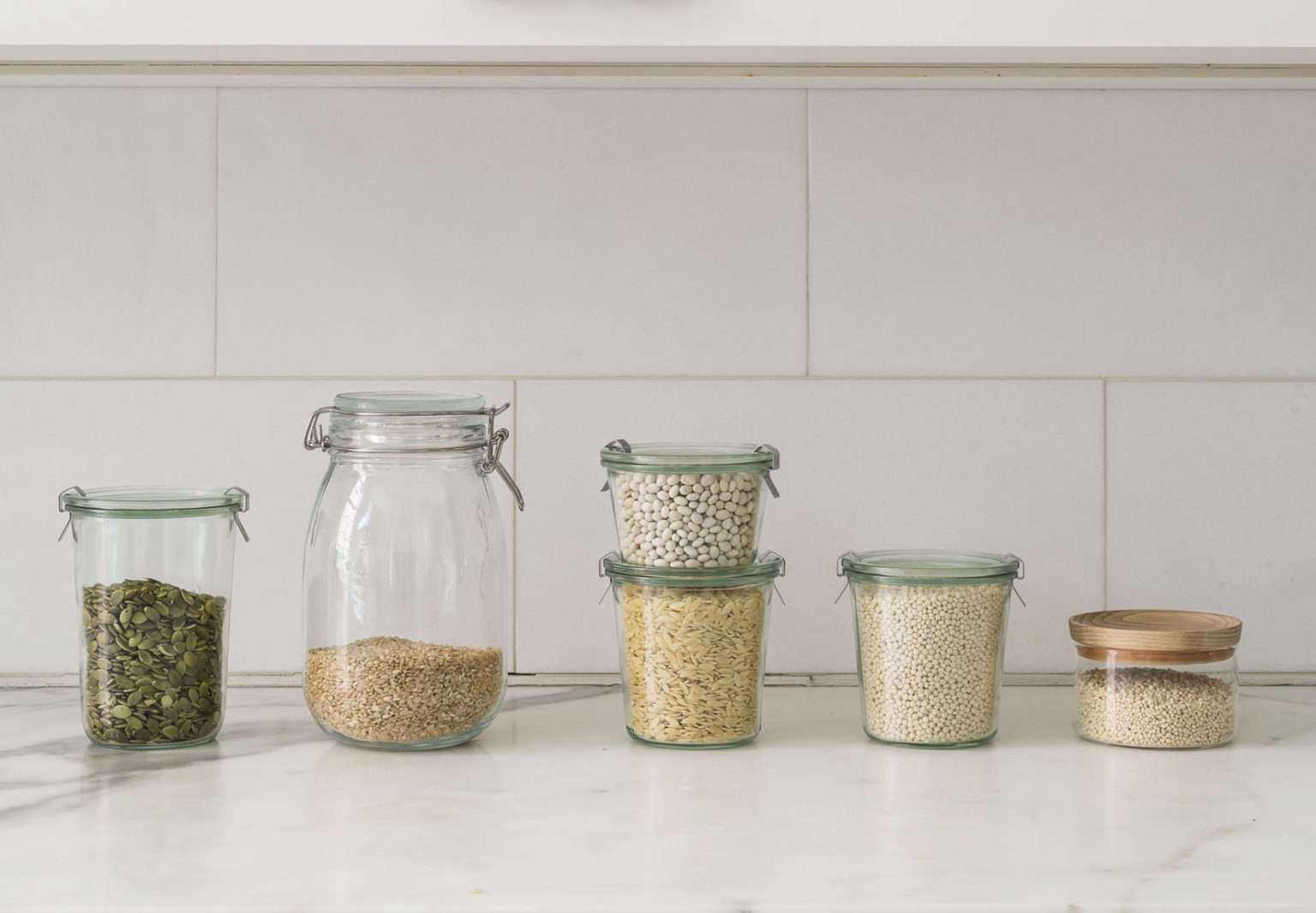 Decanting Grains in Weck Jars Styling Alexa Hotz Photo Matthew Williams & The Organized Pantry: 8 Rules for Decanting Dried Goods - The ...