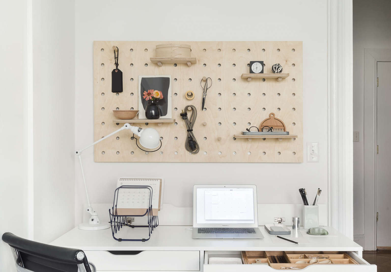 Home Office With Pegboard From The Organized Photo By Matthew Williams