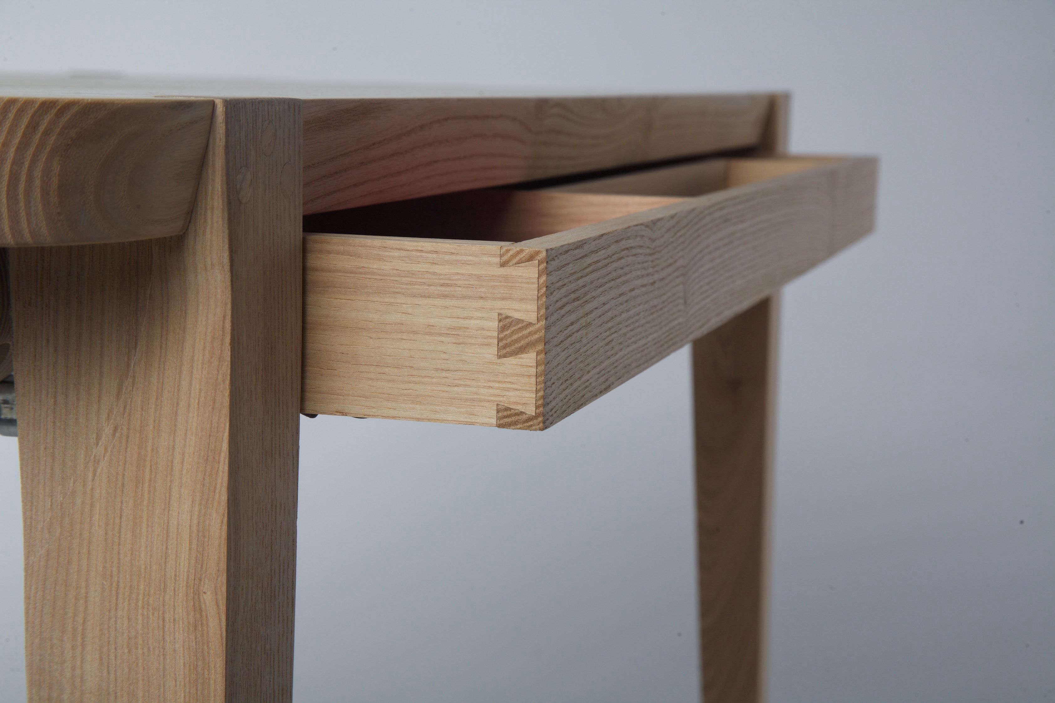 Detail, Studiomoe one-drawer Oslo desk made of American ash.