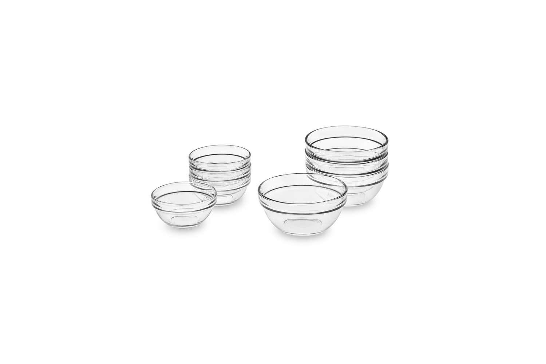 Duralex Glass Prep Mixing Bowls