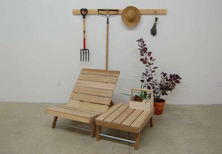 Storing Outdoor Furniture On Peg Rails