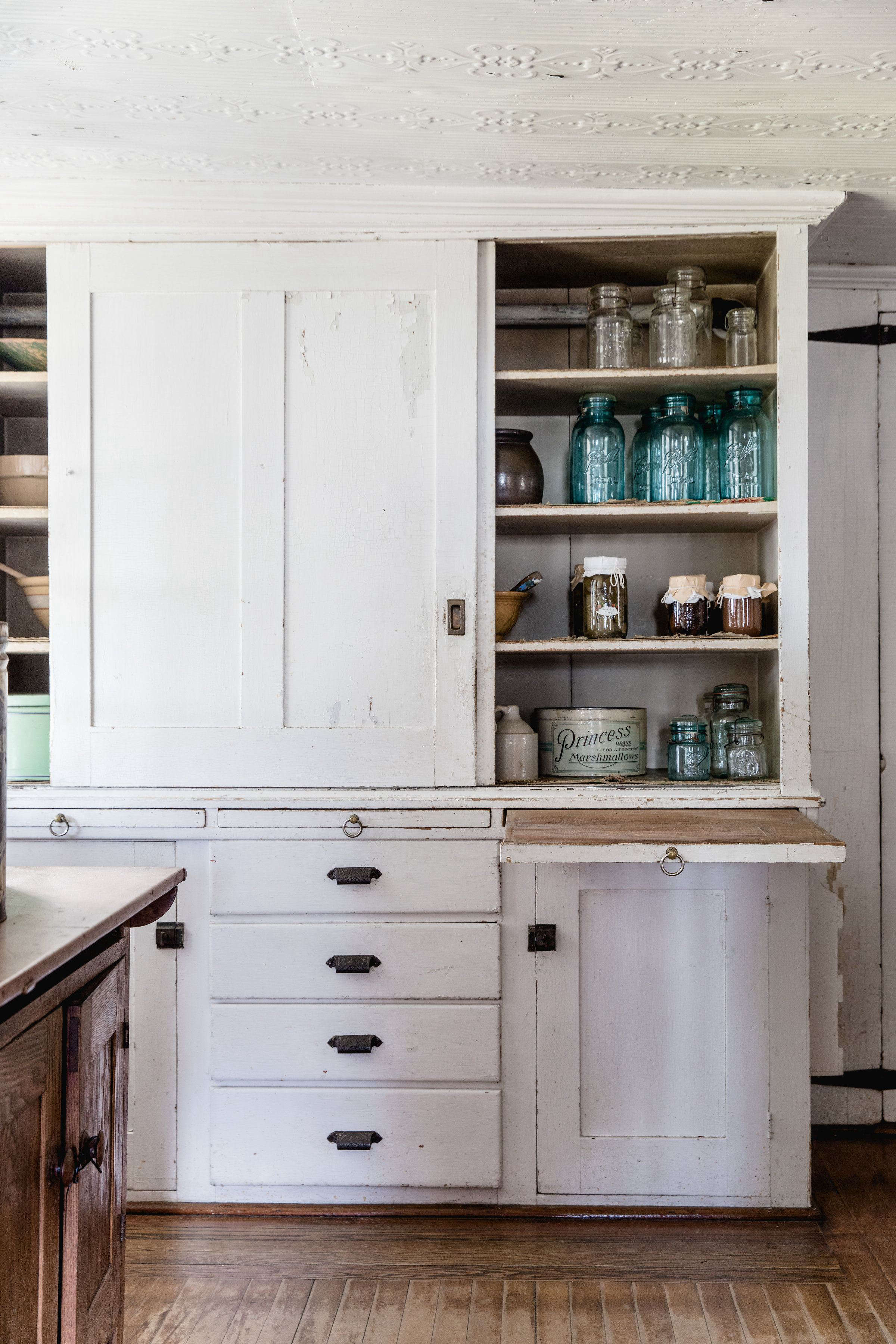 Kitchen Cabinets at Canterbury Shaker Village, Photo by Erin Little