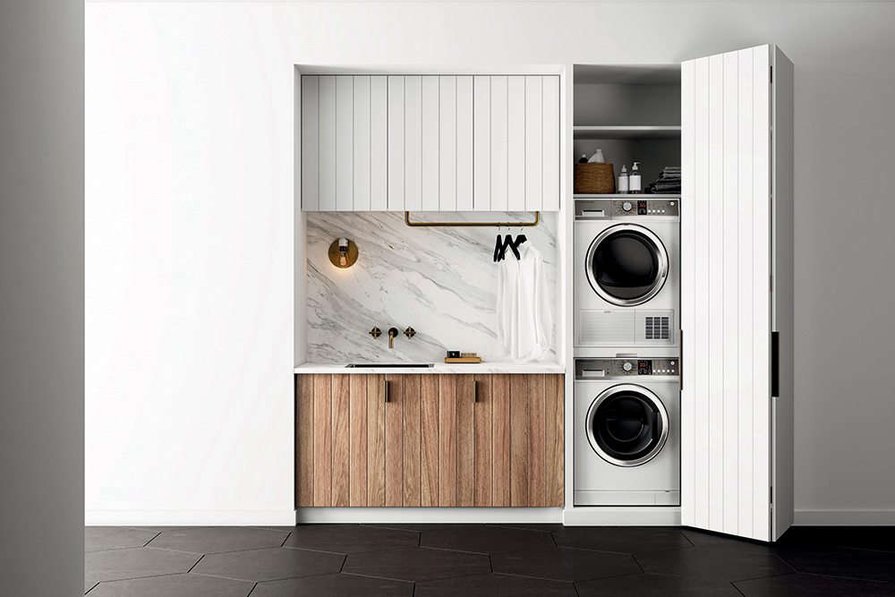 Small Luxury Laundry Rooms In Marble And Brass By Fisher