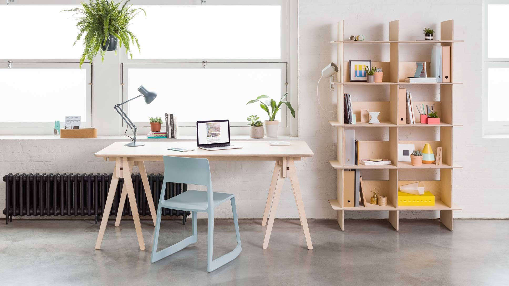 The Ordered Office: Affordable Modular Plywood Desks and Storage - The Organized Home