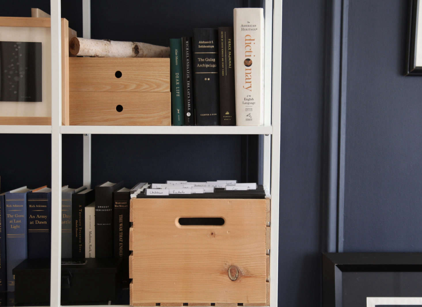 Pine Storage Crate As File Cabinet By Remodelistau0027s The Organized Home