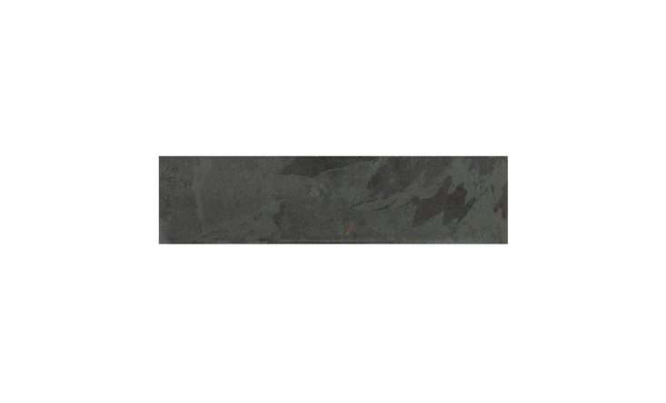 Hamilton picked hardy slate stone floors for this high-traffic space, which welcomes both sandy toes (post beach) and wet soles (post outdoor shower). This 6-inch by -inch Hampshire Slate Floor Tile is $3.34 per square foot at Home Depot.