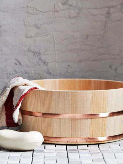 Japanese Hinoki Wood Bath Buckets High And Low
