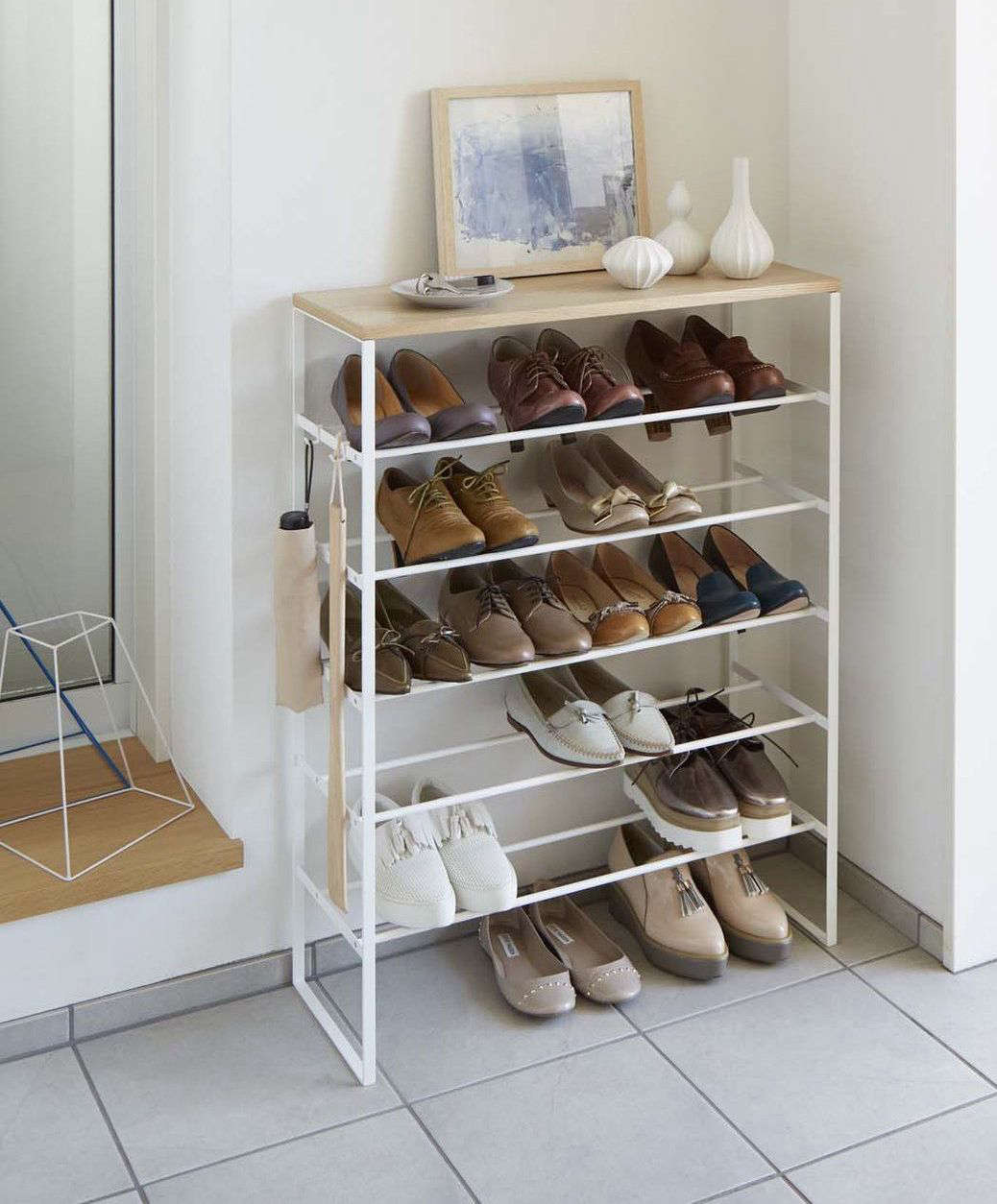 This Tower Shoe Rack accommodates six rows of shoe storage (up to 24 pairs of & 10 Favorites: Shoe Storage Solutions for the Entryway - The ...
