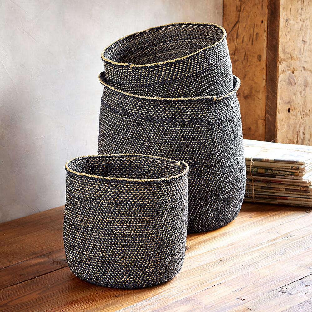 Handmade Storage Baskets In Black