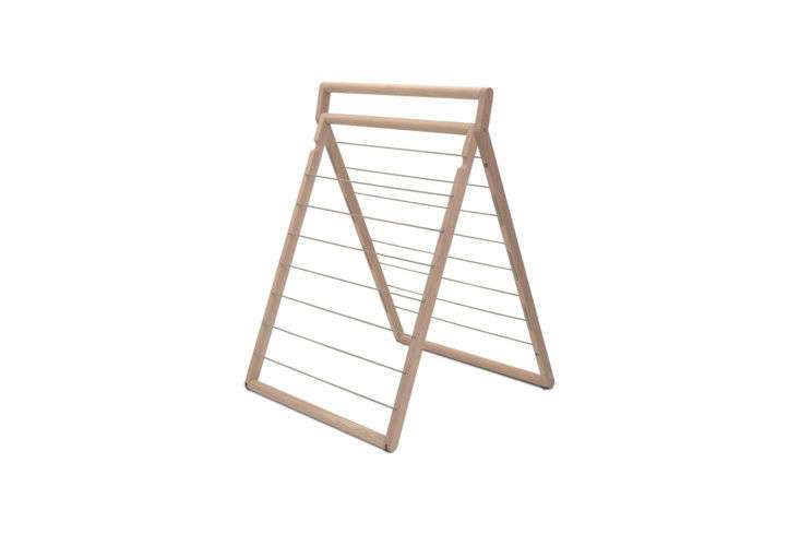 Annie has written about Skagerak's designs before (see here). She's especially taken with the Danish company's oak Dryp Clothes Drying Rack; $325 at Danish Design Store.