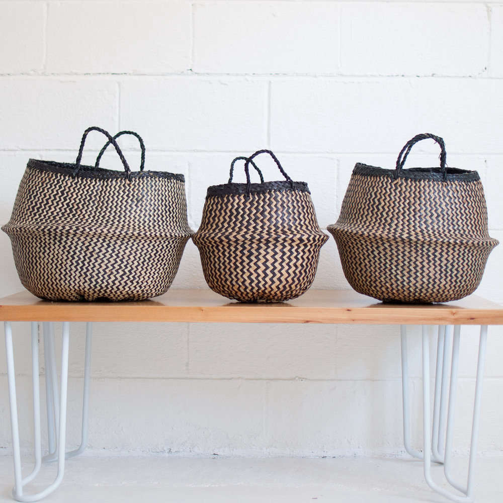 The Xinh Basket From Xinh U0026 Co. Is Made Of Naturally Dyed Seagrass, Woven