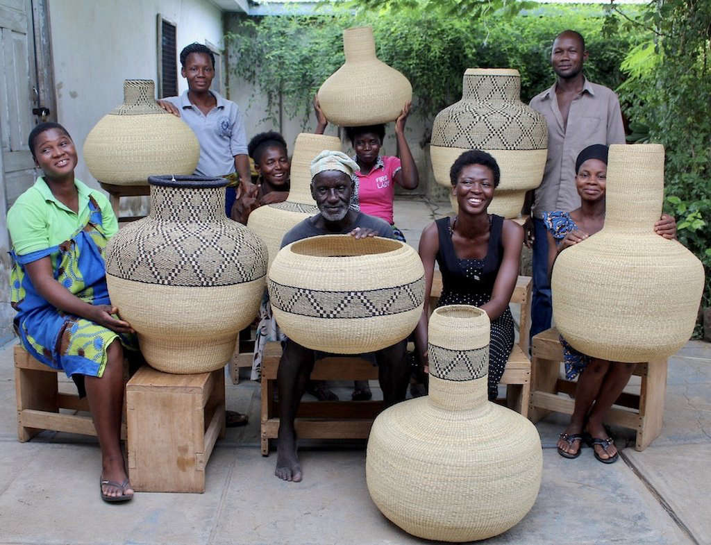 Woven Baskets from Ghana-Based Fair-Trade Baba Tree