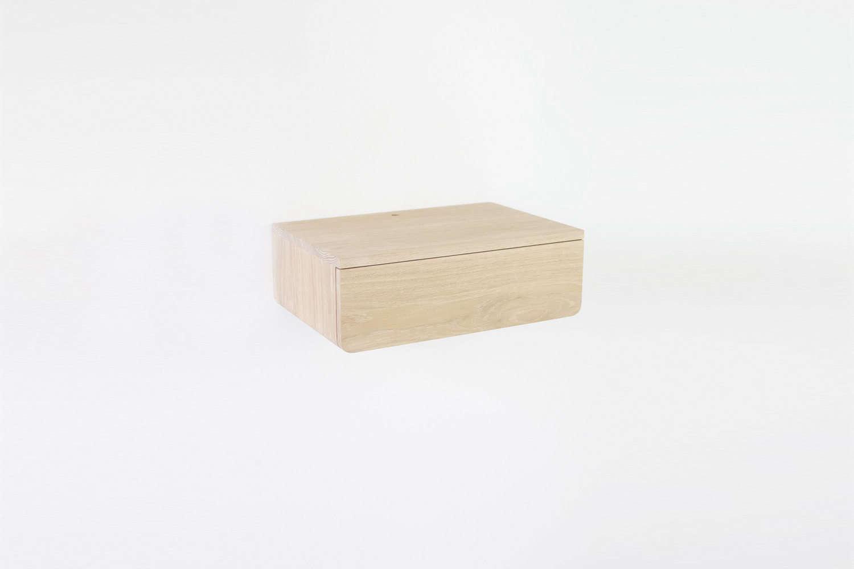 kroft buoy too oak floating drawer shelf
