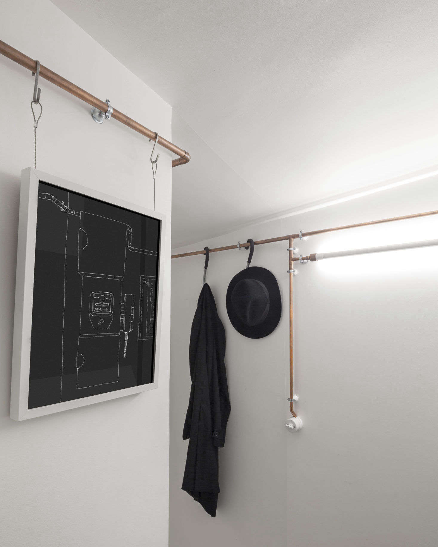 Copper Pipes In Shaker Studio Airbnb In Paris By Ariel