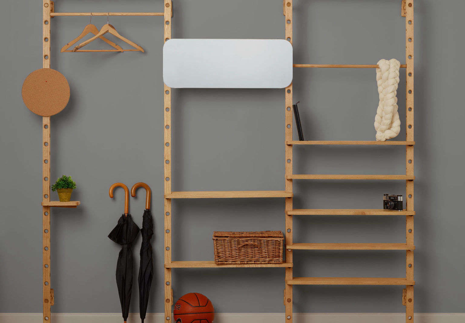 Customizable Wood Shelving And Accessories By Leonid Davydov From