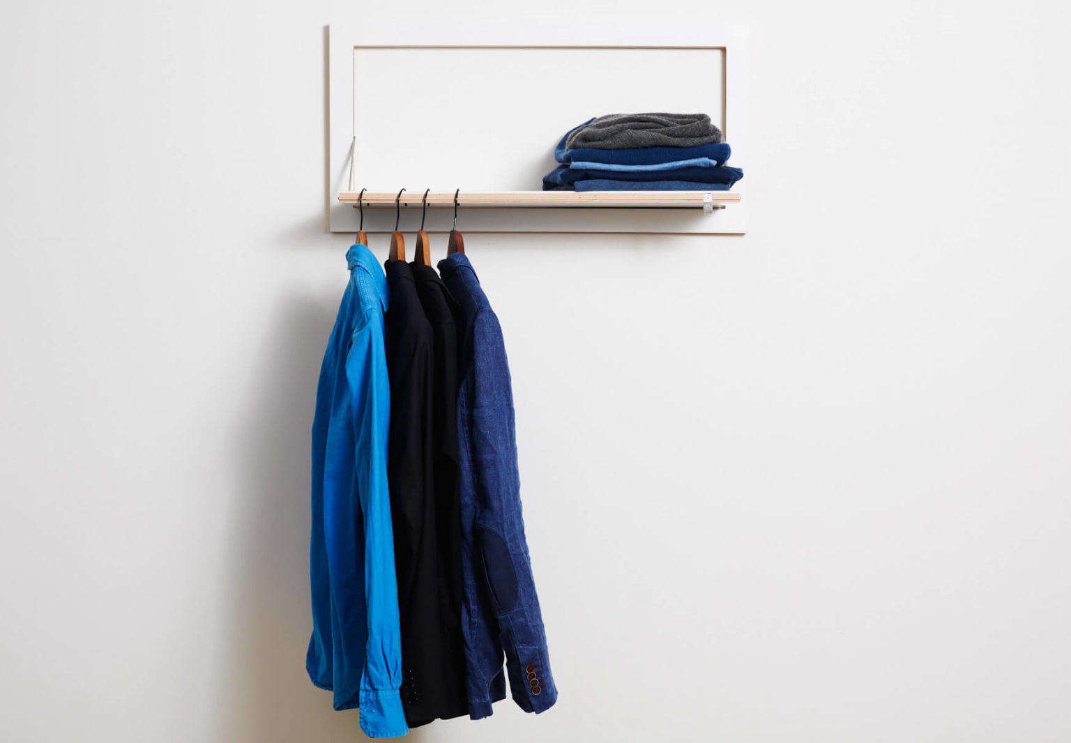 Fls By Ambivalenz Fold Down Shelf And Clothes Hanger