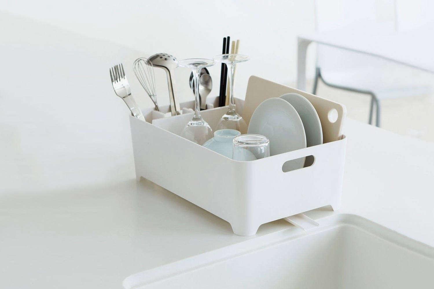MUJI Kitchen Tool Dish Drainer Stainless basket slide type from Japan