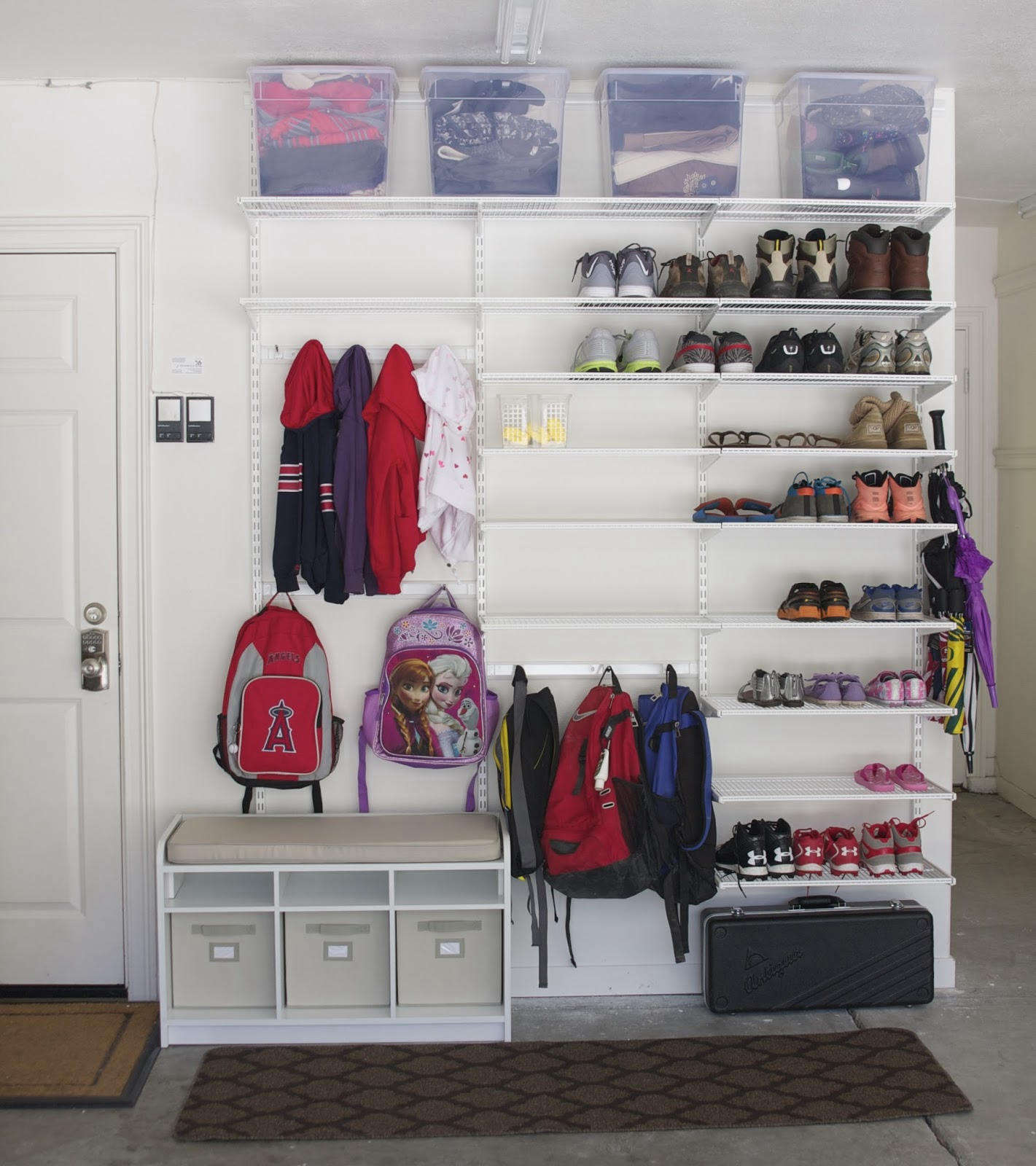 A Diy Garage Mudroom On The Cheap Thanks To Elfa