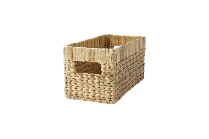 The Natural Wicker Small Changing Table Basket is $30 at Crate & Barrel.