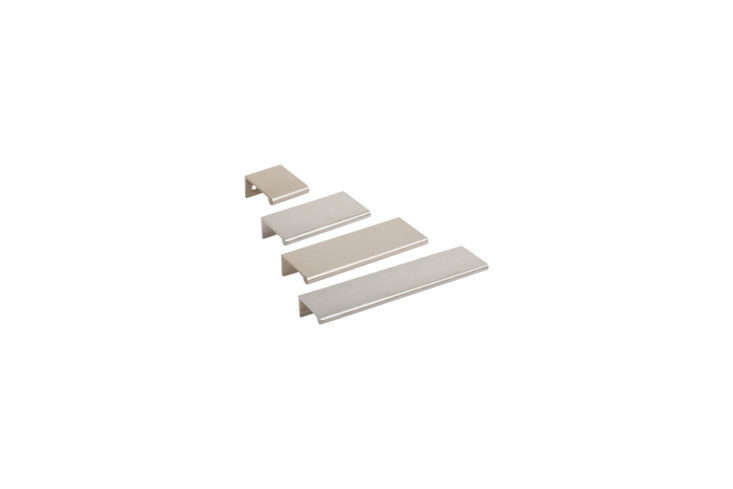 The Tab Drawer Pulls are by Doug Mockett and come in multiple sizes and finishes.
