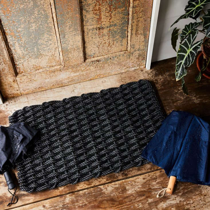 The Rope Co.'s Nautical Rope Doormat is UV-protected to prevent fading. It comes in four sizes and six colorways; from $59 at Food52.