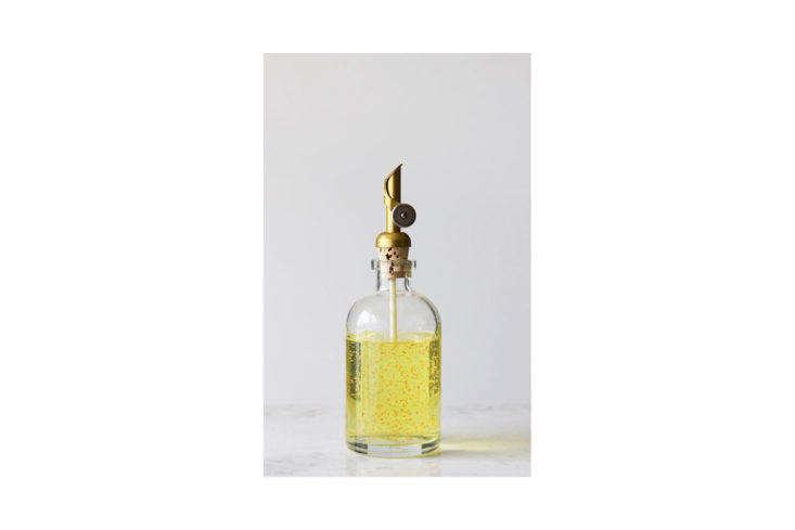 The Small Recycled Glass Dispenser with Gold Self-Pour Spout is $20.50 at Rail 19.